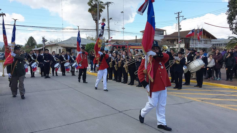 Desfile Fiestas patrias en Las Cabras