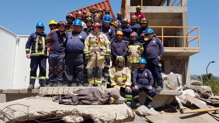 Bomberos de la Comuna participan del Curso de Búsqueda y Rescate urbano