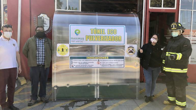 Primera Compañía recibe, Tunel ECO Pulverizador